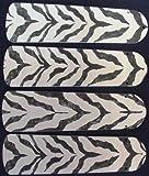 zebra ceiling fan blades - Ceiling Fan Designers 42SET-ANI-ZS New AFRICAN SAFARI ZEBRA SKIN 42 Ceiling Fan BLADES ONLY