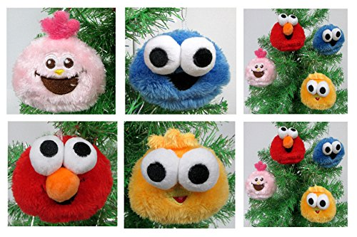Sesame Street Ornament Set - Unique Shatterproof Design