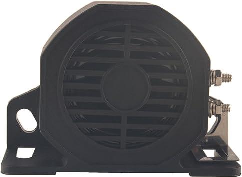 Dewhel Back-Up Alarm 12-80V Waterproof Industrial Heavy Duty Commercial Grade BackUp Alarm 102 Decibel Rear Reversing Warning Siren Horn Car Truck Parking Alarm
