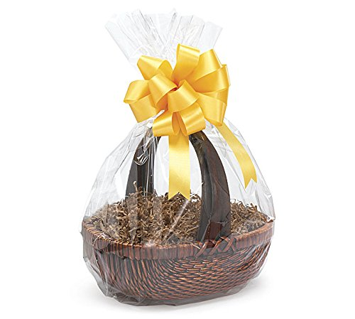 A1BS Clear Cello Cellophane Bags Gift Basket Package Flat Gift Bags (18 in X 24 in Round Bottom)