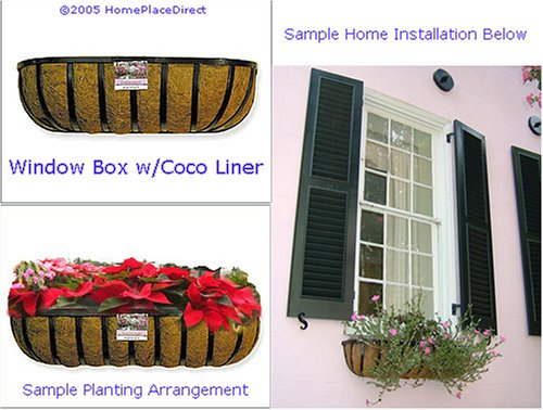 48'' Window Box, Wall Trough with Coconut Liner by HomePlaceDirect