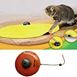 OHTOP Moving Mouse Cats Meow Play Undercover Fabric Cat Toy For Cat Kitty Funny