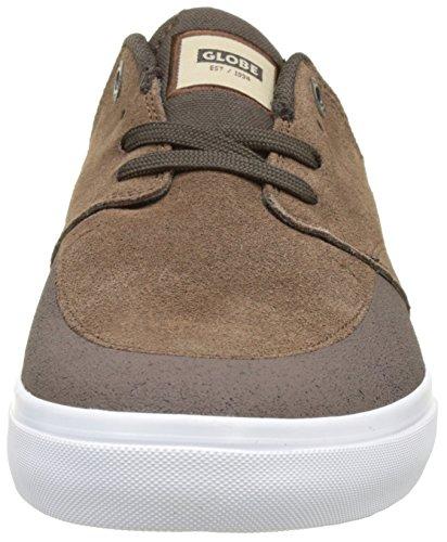 Homme Skateboard Chase Globe brown Chaussures Brown De white 4U7ZwTq1x