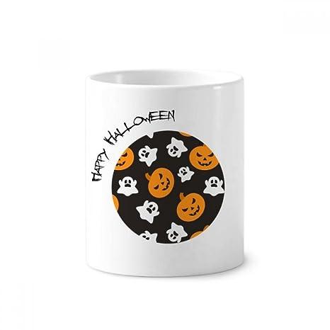 DIYthinker Calabaza de Halloween del fantasma de Todos los Santos soporte de cerámica taza del cepillo