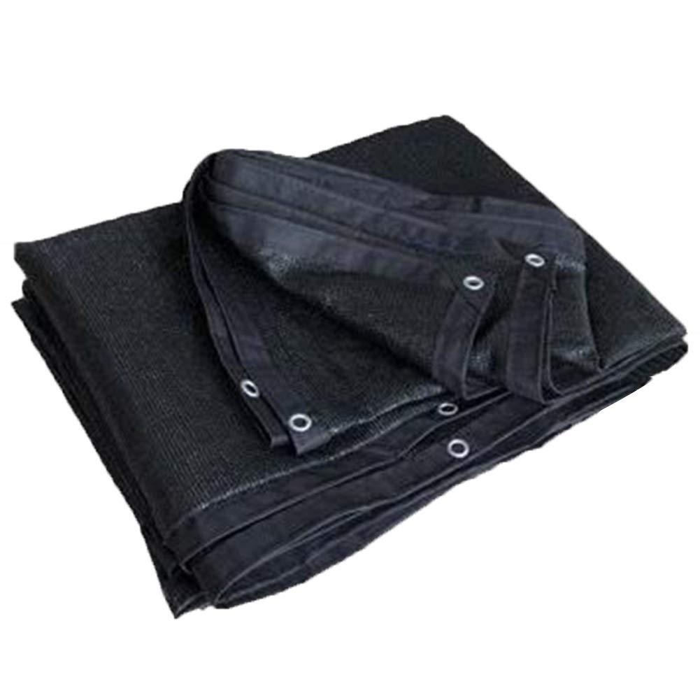noir 2x6m GZHENH Filet De Camouflage Salle De Soleil Polyvalent Résistant à L'usure Baisser La Température Trou En Métal Pliable Polyéthylène, Taille 21 (Couleur   noir, Taille   4x8m)