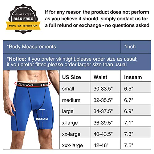 Runhit Men's Compression Shorts(3 Pack), Compression Spandex Yoga Shorts Underwear