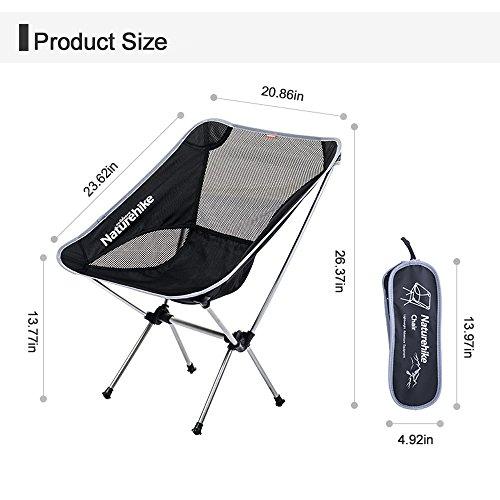 Chaise pliante ultra-légère portative en plein air Chaise longue de chaise de tabouret de chaise de salon de pêche, léger et confortable