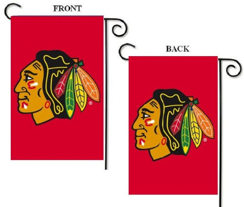 - NHL Chicago Blackhawks 12.5'' x 18'' Two-Sided Garden Flag