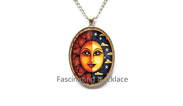 Sunshine Jewellery Happy Gift Happiness Jewelry Sun Locket Necklace Charm Locket Necklace Weather Locket Necklace Cute,AQ145 Symbol Locket Necklace