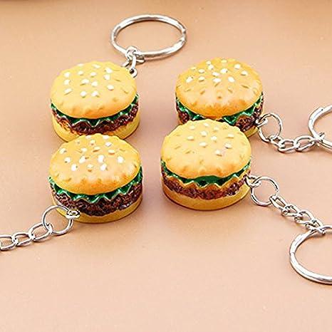 Jewelry Sets & More New Fashion Cute Hamburger Keychain Simulation Food Hamburger Pendant Key Ring Novelty Key Chain Christmas Birthday Gift 2019 New Fashion Style Online