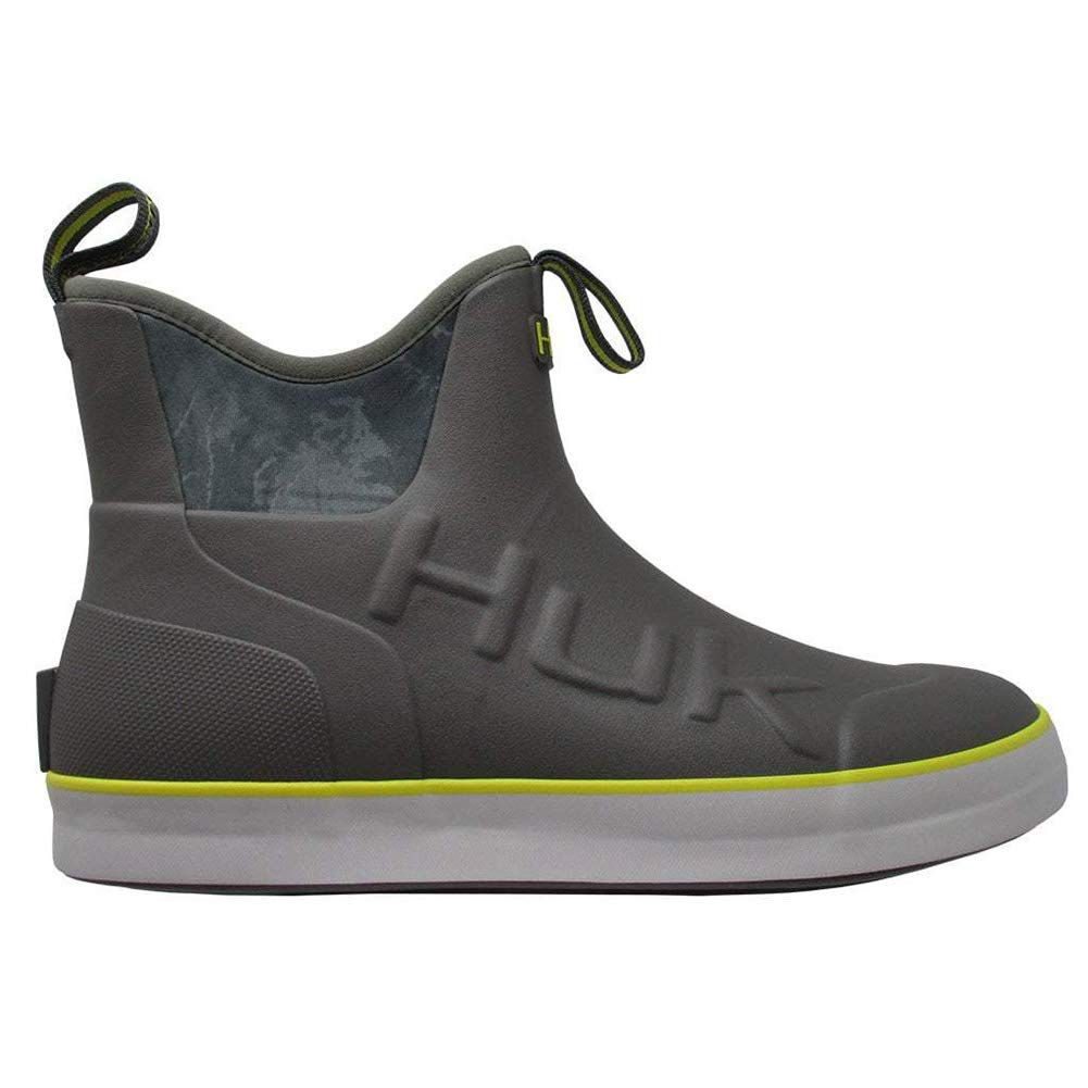 HUK Mens Rogue Rubber Water Wave Mid Boot, Adult, Charcoal Grey, Size 10 by HUK