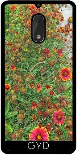 Funda de silicona para Nokia 6 - Jardín Gaillardia Sunburst by Blooming Vine Design