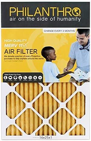 [해외]1 Inch Home Furnace Air Filter by PHILANTHRO - MERV-11 Filter For Residential & Business - Furnace Filter 16x25x1-10% Donated To Orphan Charities With Every AC Filter Purchased / 1 Inch Home Furnace Air Filter by PHILANTHRO - MERV-...