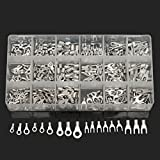CynKen 330pcs Electrical Wire Connector Bare cold terminal Crimp Terminals Spade Assorte