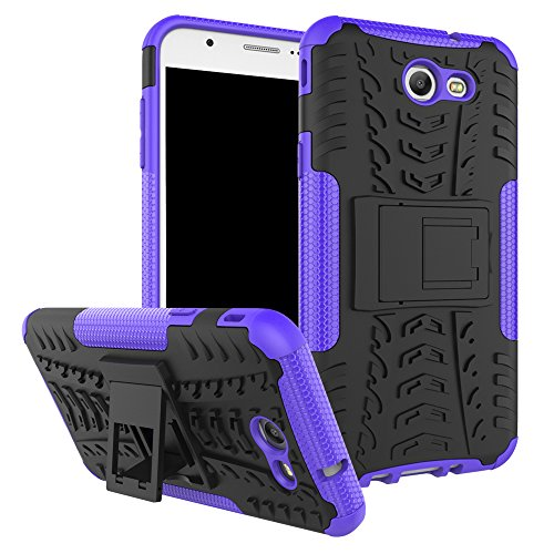 Galaxy J7 V Case, Galaxy J7 Prime, Galaxy Halo, Galaxy J7 Perx, Galaxy J7 Sky Pro, Galaxy J7 2017, KMISS Hybrid Heavy Duty Armor Protection Cover [Anti Slip] [Built-In Kickstand] Skin Case (Purple)
