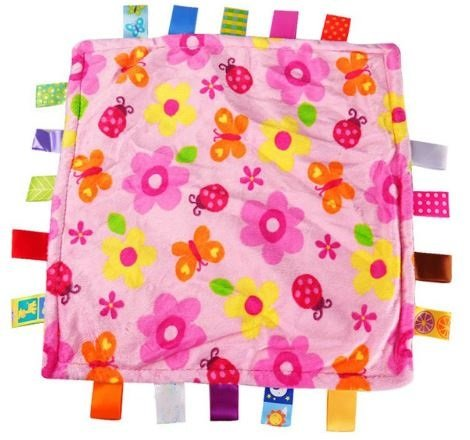 Fraternity Party Halloween Costumes (Comforting Generic Pink Flowers Baby Blanket with satin tags)