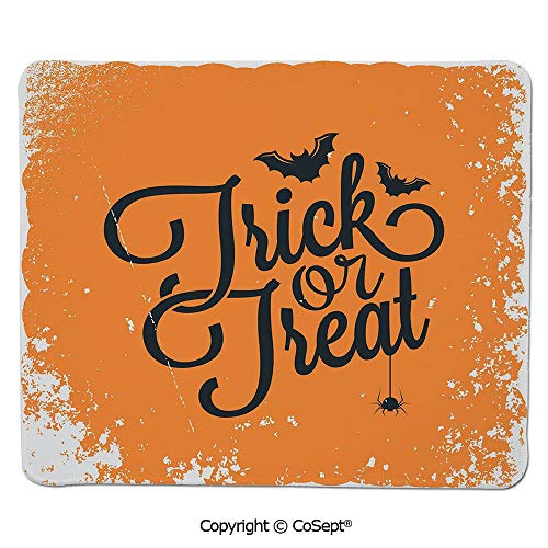 Premium-Textured Mouse pad,Trick or Treat Halloween Theme Celebration Image Bats Tainted Backdrop Decorative,Non-Slip Water-Resistant Rubber Base Cloth Computer Mouse Mat (11.81