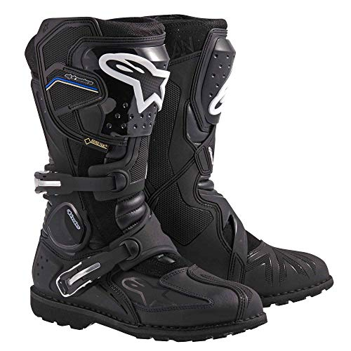 Alpinestars Toucan Gore-Tex Men's Weatherproof Motorcycle Touring Boots (Black, US Size 13) (Best Alpine Touring Boots For Wide Feet)