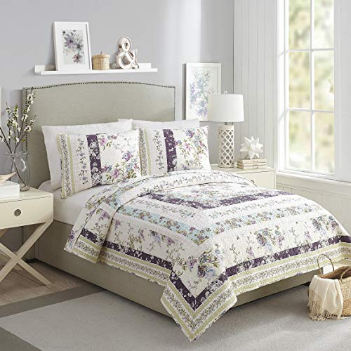 Mary Jane's Home Collected Wildflowers Quilt, Full Queen, Purple (Mary Bedding Jane)