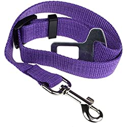 Franterd®Vehicle Pet Cat Dog Safety Seat Belt (Purple)