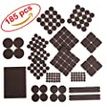 185 pcs pack! Furniture Felt Pads - Premium Felt and Heavy Duty Adhesive - Floor Protector for wood, tile floor and all hard surfaces. Best for chair legs, Tables, Sofas, Desks and more
