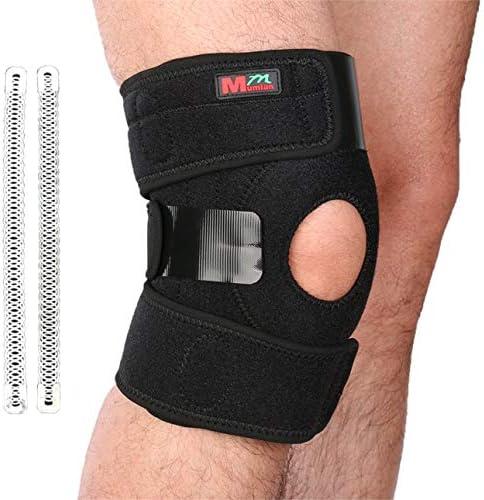 NancyMissY 1ピース膝プロテクター自己発熱膝パッドシリコーン弾性包帯デザイン膝サポートベルト膝マッサージャーヘルスケア