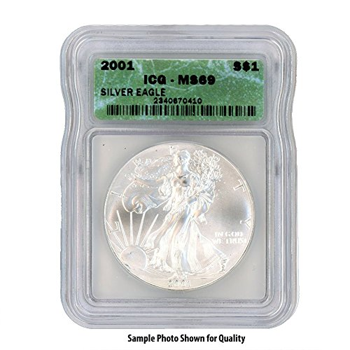2001 American Silver Eagle $1 MS69 ICG