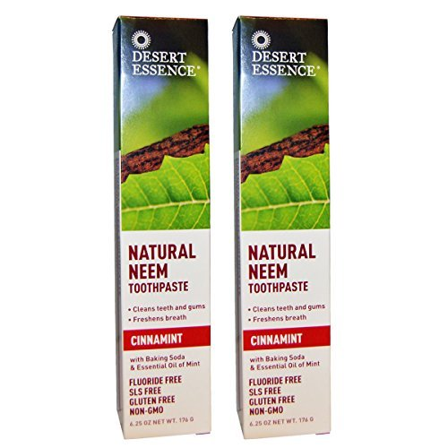 Price comparison product image Desert Essence Neem Toothpaste Cinnamint - 6.25 oz (Pack of 2)