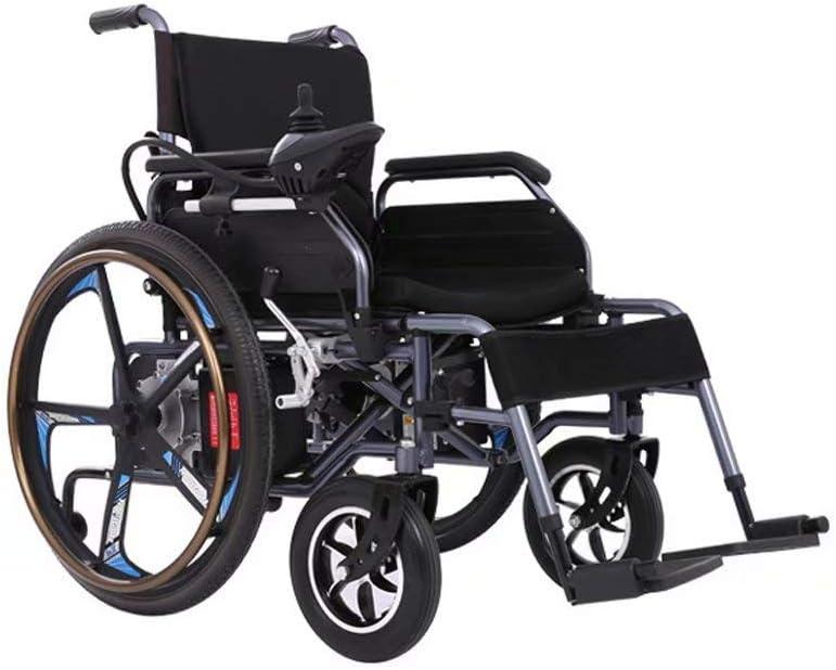 Silla de ruedas eléctrica, peso ligero plegable con batería de iones de litio, silla de ruedas inteligente para personas mayores y discapacitadas