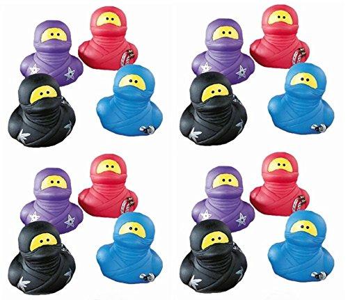 Pack 16 ~ Ninja Rubber Ducks - Party Duckys Assorted ()