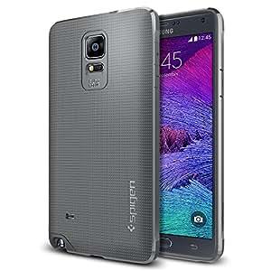 Galaxy Note 4 Case, Spigen® [STRONG-FLEX] Galaxy Note 4 Case Soft [Liquid Armor] [Gray] Premium Flexible Soft TPU Case for Samsung Galaxy Note 4 (2014) (SGP11113)