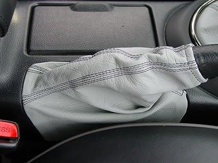 Cuero Negro PERFORADO Costura Negra RedlineGoods funda para Freno de Mano Compatible con Toyota Altezza 2001-05