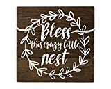 Bless this Nest Wood Sign Farmhouse Decor Sign Review