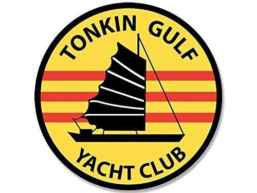 GHaynes Distributing ROUND Tonkin Gulf Yacht Club Sticker Decal (vietnam maddox uss) Size: 4 x 4 (Club Decal)