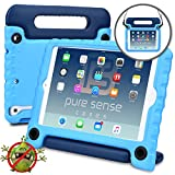 Pure Sense Buddy [Anti-Microbial Kids Case] Child Proof case for iPad Mini 3, iPad Mini 2, iPad Mini 1 | Rugged Cover, Stand, Handle, Shoulder Strap