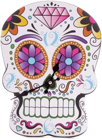 Puckator – Day Of The Dead Skull Shaped Lauren Billingham Clock