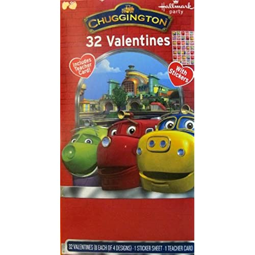 32 Chuggington Valentine Day Cards with stickers Sales