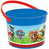 "Amazing Paw Patrol Birthday Party Favour Plastic Container (1 Piece), Blue/Red, 4 1/2"" x 6 1/4""."