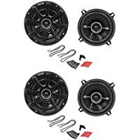 4) Kicker 41DSC54 D-Series 5.25 400 Watt 2-Way 4-Ohm Car Audio Coaxial Speakers