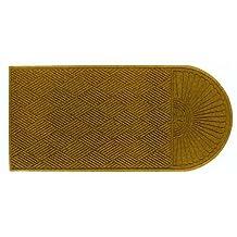 "Andersen 273 Waterhog Grand Classic Polypropylene Fiber Single End Entrance Indoor/Outdoor Floor Mat, SBR Rubber Backing, 5.5' Length x 3' Width, 3/8"" Thick, Gold by The Andersen Company"