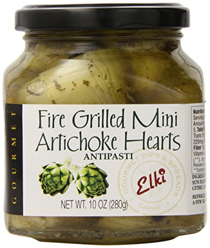 Elki's Gourmet Fire Grilled Marinated Mini Artichoke Hearts, 10 Ounce ()