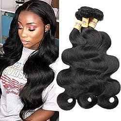 Connie Brazilian Hair Bundles Body Wave 100% Human Hair 3 Bundles 18 20 22 inch Weave Hair Human Bundles Natural Color 1B#