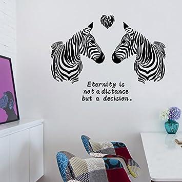 Rureng Liebe Zebra Mode Schlafzimmer Vorraum Dekoration PVC Wand ...