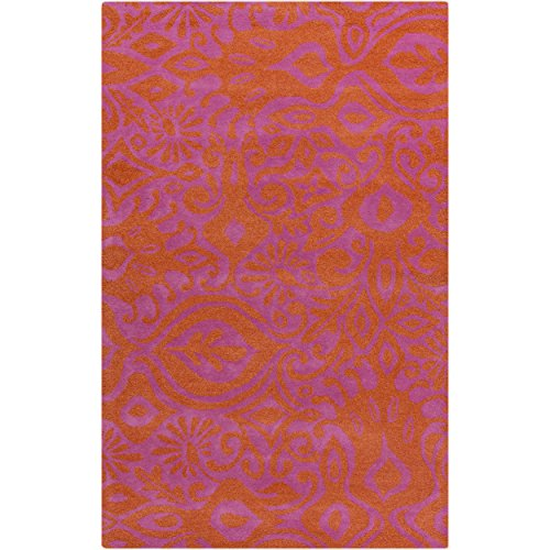 Surya Kate Spain Alhambra ALH-5001 Hand Tufted 100-Percent New Zealand Wool Floral and Paisley Area Rug, 5-Feet by 8-Feet by Surya