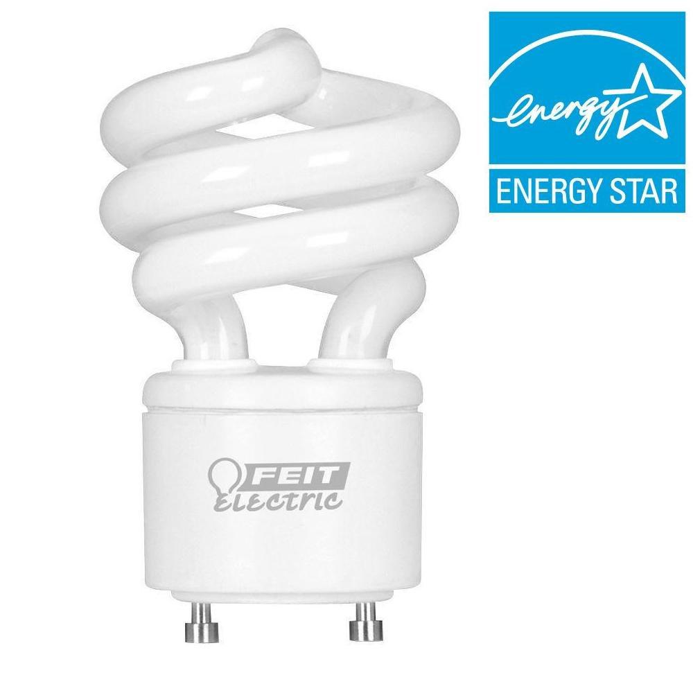 New 13W CFL Mini Spiral GU24 Base 2700K Soft White 60W Fluorescent Light Bulb