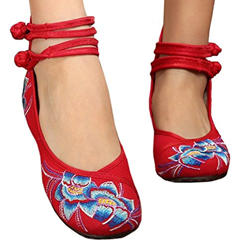 Shoes Shoes Beijing White Old Cloth Embroidered red 36 Small qgZ5zg