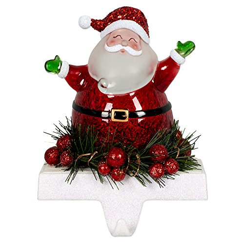 - Jolly Santa LED Light-up 7 inch Stocking Holder Christmas Figurine Decoration