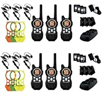 Motorola MR350TPR 35-Mile Range 22-Channel Two-Way Radio Includes 6 Belt Clips & 6 Earbuds with PTT Microphone & 6 Extra Skin Replacments(6 Pack)