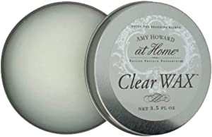 Clear Wax Furniture Wax   3.5 oz   Protective Clear Topcoat to Seal Chalk Paint Finishes, Furniture, Cabinet, Accessories, Home Decor, and More   Amy Howard At Home