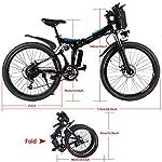AMDirect-Bicicletta-da-Montagna-Elettrica-Pieghevole-con-Ruote-di-26-Pollici-Batteria-Litio-di-Grande-Capacita-36V-250W-Sospensione-Completa-Premium-e-Cambio-Shimano